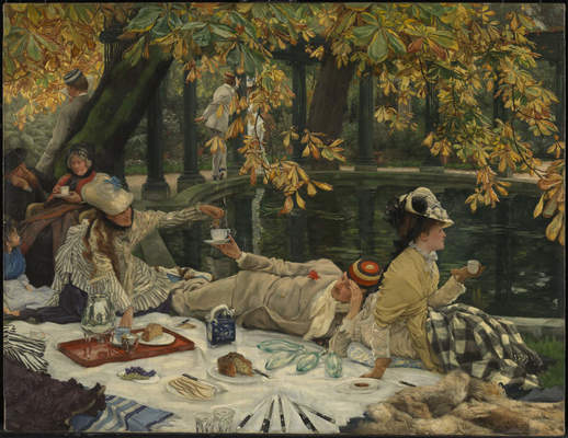 "James Tissot, ""Holyday (The Picnic)"", ca. 1876"