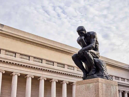 """Auguste Rodin, """"The Thinker,""""1888"""
