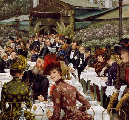 "James Tissot, ""Painters and Their Wives"" (detail), ca. 1883–1885"