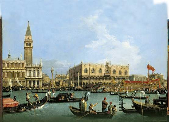 "Canaletto, ""Venice: The Bacino di S. Marco on Ascension Day"", c.1733–4"