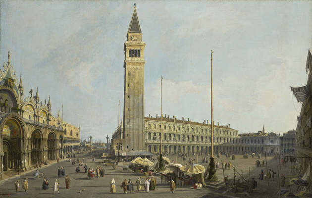 Giovanni Antonio Canal, called Canaletto, The Square of Saint Mark's and the Piazzetta, ca. 1731