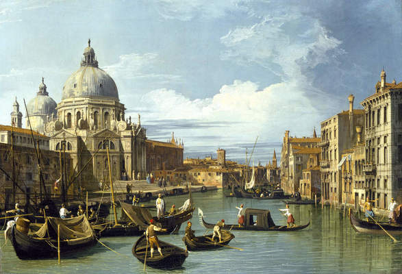 Giovanni Antonio Canal, called Canaletto (Italian, 1697–1768), Entrance to the Grand Canal, ca.1730. Oil on canvas, 19 1⁄2 x 29 in. (49.6 x 73.6 cm). The Museum of Fine Arts, Houston, The Robert Lee Blaffer Memorial Collection, Gift of Sarah Campbell Blaffer, 56.2