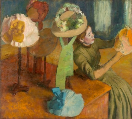 "Edgar Degas, ""The Millinery Shop"", 1879–1886."