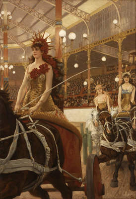 "James Tissot, ""La Femme à Paris: Ladies of the Chariots,"" ca. 1883–1885."