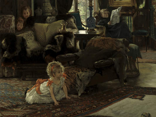 "James Tissot, ""Hide and Seek,"" ca. 1877"