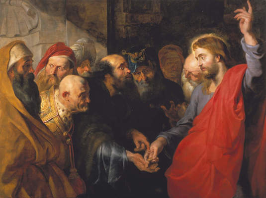 "Peter Paul Rubens, ""The Tribute Money,"" ca. 1612"