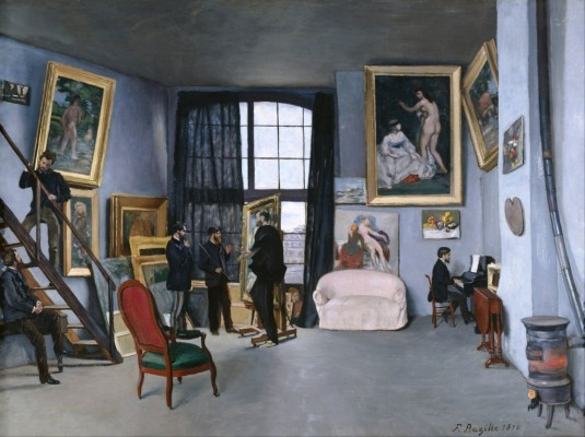 "Frédéric Bazille, ""Bazille's Studio,"" or ""The Studio on the rue la Condamine,"" 1870"