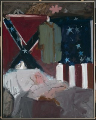 "Larry Rivers, ""The Last Civil War Veteran"", 1961. Oil on canvas. 82.5"" x 64.5"". Foundation purchase, Phyllis C. Wattis Fund for Major Accessions. Not currently on display, 2009.13"